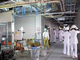 工事中の新2病棟内部