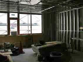 工事中の新2病棟内部 病室