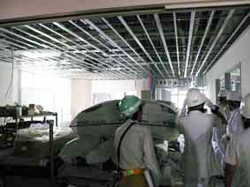 工事中の新2病棟内部 ナースセンター