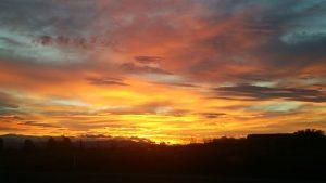 阿賀野市の朝日